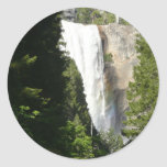 Vernal Falls II in Yosemite National Park Classic Round Sticker