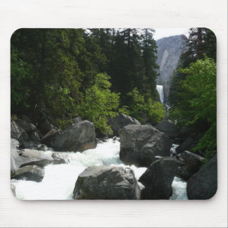 Vernal Falls in the Distance at Yosemite Mouse Pad