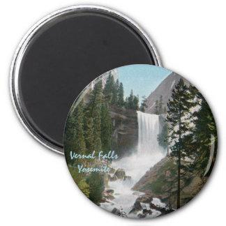Vernal Falls Vintage Yosemite Magnet