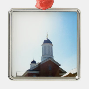 Vernal Utah Lds Mormon Temple Metal Ornament
