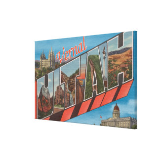 Vernal, UtahLarge Letter ScenesVernal, UT Canvas Print