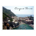 vernazza aerial post card