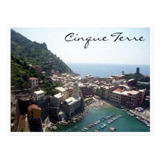 vernazza aerial postcard