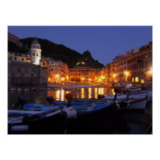 Vernazza at Night Posters