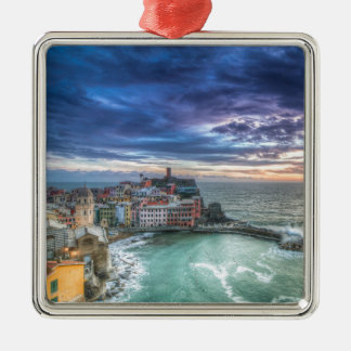Vernazza at sunset, Italy Christmas Ornaments