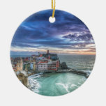 Vernazza at sunset, Italy Ornaments