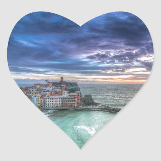 Vernazza at sunset, Italy Stickers