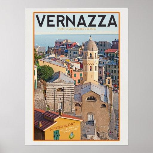 Vernazza - Church of Santa Margherita d'Antiochia Poster