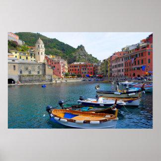 Vernazza, Cinque Terre, center at the port, Print