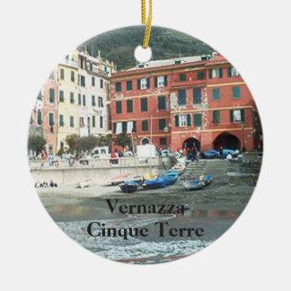 Vernazza - Cinque Terre Ceramic Ornament