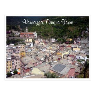vernazza cinque terre roofs postcard