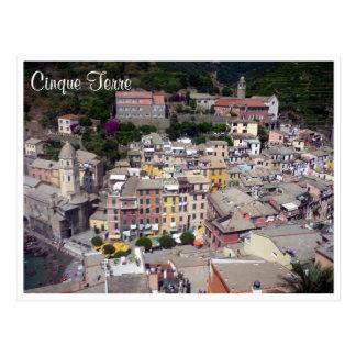 vernazza cinque terre town postcard