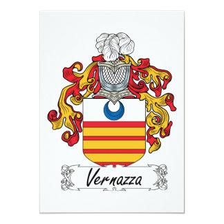 Vernazza Family Crest Card