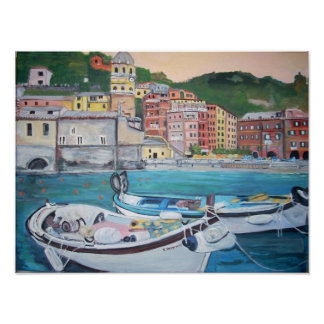 Vernazza Harbor, Cinque Terre Poster