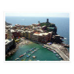 vernazza harbor post card