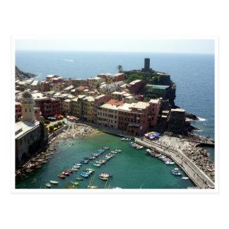 vernazza harbor postcard