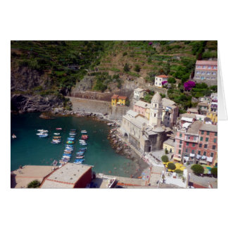 vernazza harbour italy card
