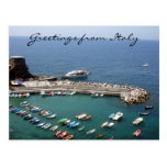 vernazza italy greetings post card