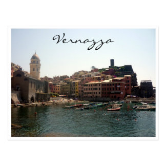 vernazza port postcard