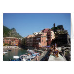vernazza sun greeting card