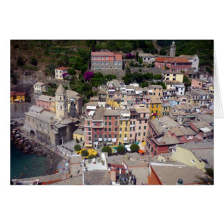 vernazza terre greeting card