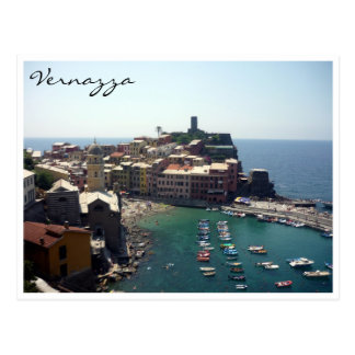 vernazza view postcard