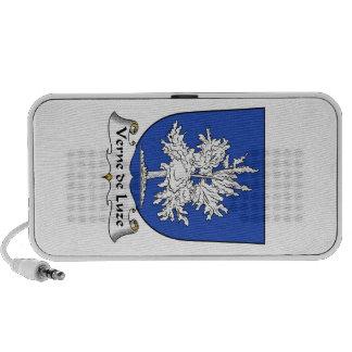 Verne de Luze Family Crest Travel Speakers