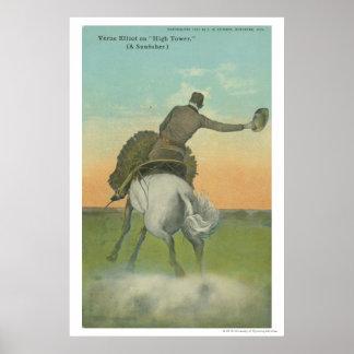 Verne Elliott on High Tower. Poster