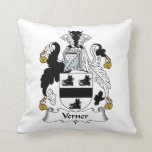 Verner Family Crest Throw Pillow