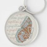 Verneuil  Art Nouveau Butterflies Keychain
