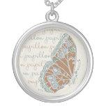 Verneuil Art Nouveau Butterfly Pendant Necklace