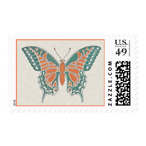 Verneuil  Art Nouveau Butterfly Postage Stamps
