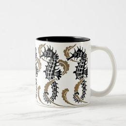 Verneuil  Art Nouveau Seahorse Coffee Mug