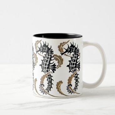 Coffee Themed Verneuil  Art Nouveau Seahorse Coffee Mug