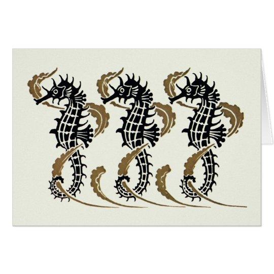 Verneuil Art Nouveau Seahorse Note Cards