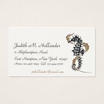 Professional Business Verneuil Seahorse Art Nouveau Business Cards