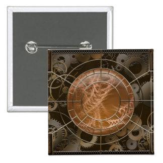 Vernian Jewel 2 Inch Square Button