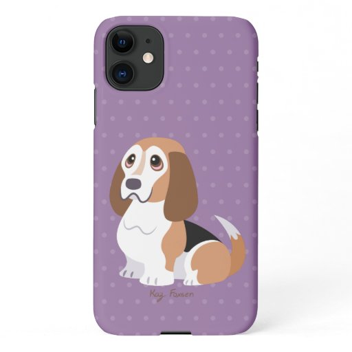 Vernie the Basset Hound iPhone 11 Case