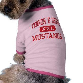 Vernon E Greer - mustangos - centro - Galt Camiseta De Perro