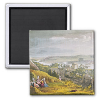 Vernon, from 'Views on the Seine', engraved by Tho 2 Inch Square Magnet