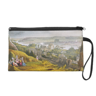 Vernon, from 'Views on the Seine', engraved by Tho Wristlet Purse