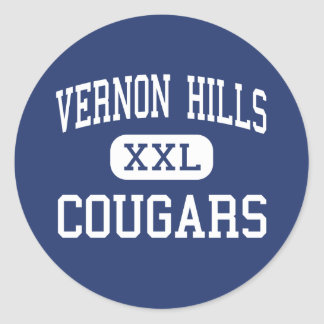 Vernon Hills - Cougars - High - Vernon Hills Classic Round Sticker
