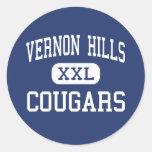 Vernon Hills - pumas - alto - Vernon Hills Etiqueta