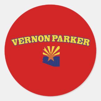 Vernon Parker para Arizona Pegatina Redonda