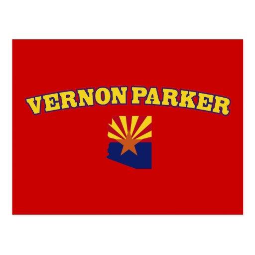 Vernon Parker para Arizona Tarjeta Postal