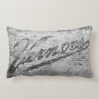 Vernor's Brick Wall Ann Arbor Michigan Throw Pillow