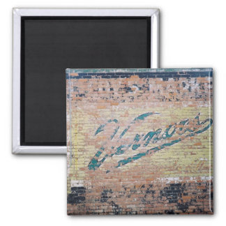 Vernors ghost ad 2 inch square magnet