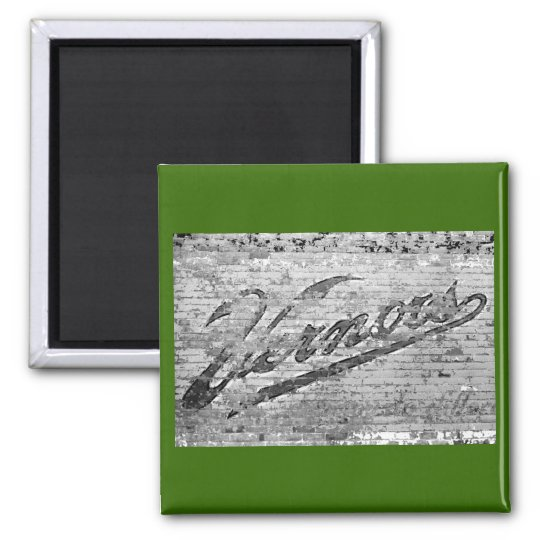 Vernors Wall 1999 Ann Arbor, Michigan 2 Inch Square Magnet