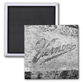 Vernors Wall 1999 Ann Arbor Michigan 2 Inch Square Magnet