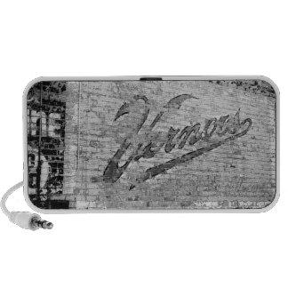 Vernors Wall Ann Arbor Michigan Brick Wall Portable Speaker